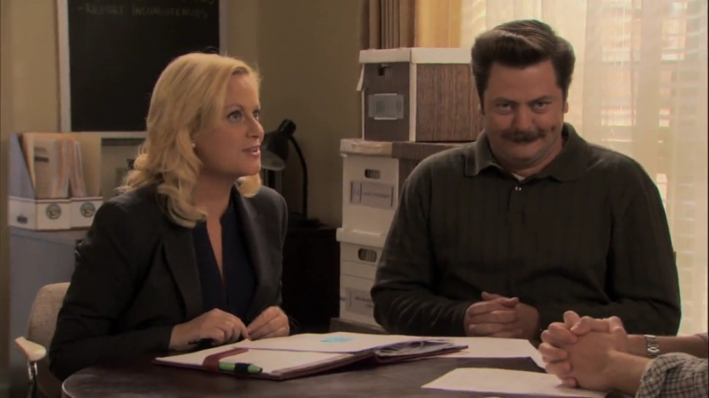 Leslie och Ron i Parks and Recreation
