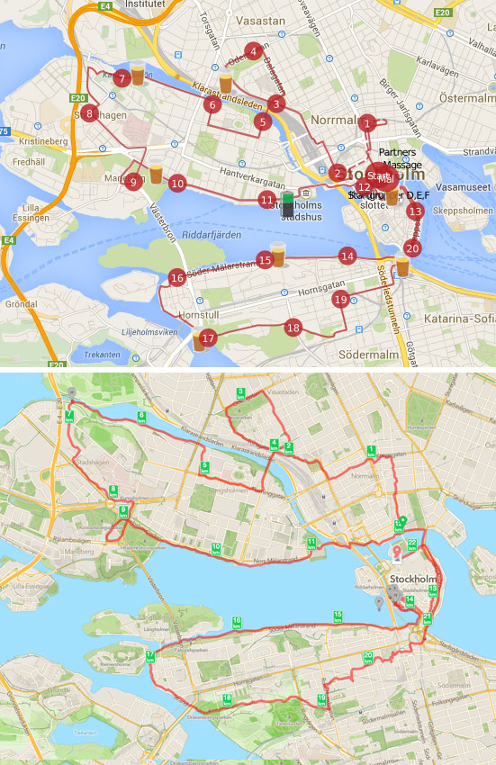 Övningsrunda Stockholm Halvmarathon